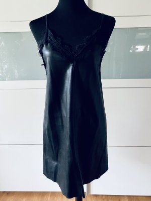 H&M Divided Leather Dress black