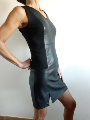 Yest Leather Dress black
