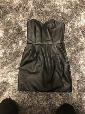 Topshop Vestido de cuero negro