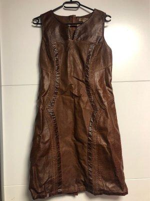 Mouvance Robe en cuir brun