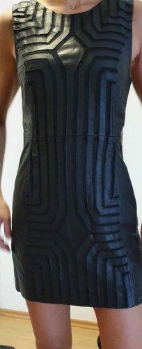 Maze Robe en cuir noir