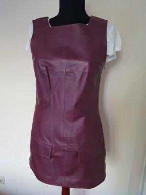 Blacky Dress Robe en cuir violet