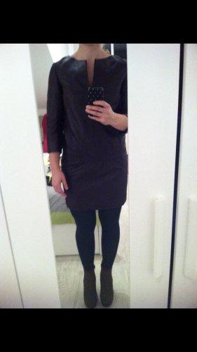 Blacky Dress Vestido de cuero marrón