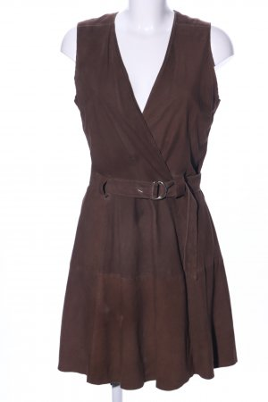 Leather Dress brown casual look