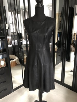 Vero Moda Vestido de cuero negro