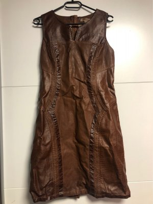 Mouvance Leren jurk bruin