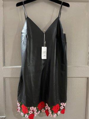Skórzana sukienka Wielokolorowy