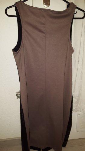 LC Waikiki Vestido de cuero marrón claro