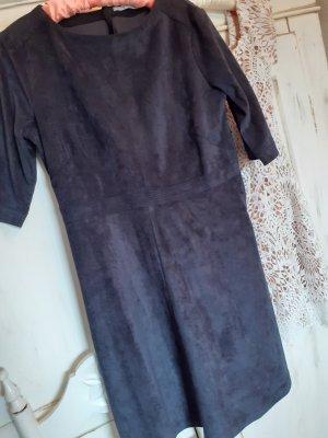 Edc Esprit Vestido de cuero azul oscuro