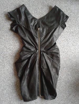 Gestuz Vestito in pelle nero Pelle