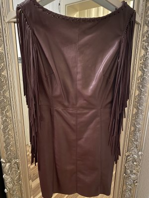 Zara Leather Dress brown red-bordeaux