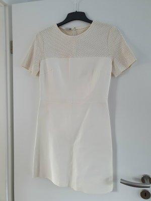 8 BY YOOX Skórzana sukienka jasnobeżowy