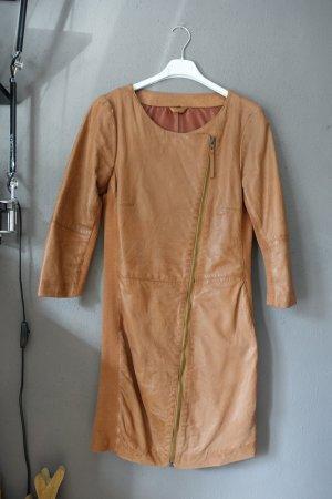 Transmission Vestido de cuero marrón-coñac Cuero
