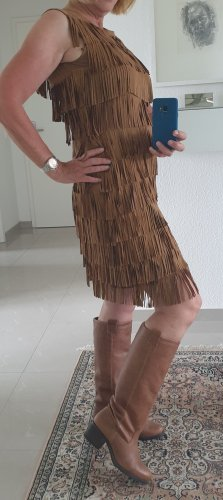 Skórzana sukienka cognac Skóra
