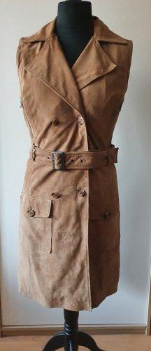 Robe en cuir marron clair