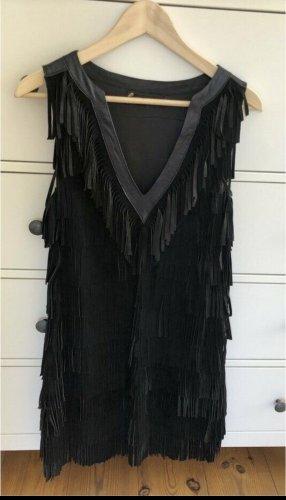 Robe en cuir noir cuir