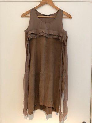 Liu jo Leather Dress grey brown leather