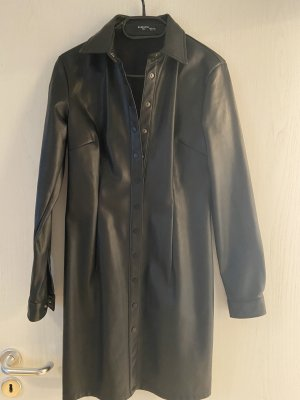 Reserved Faux Leather Dress black
