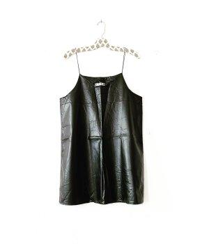 lederkleid • vintage • vegan leather • schwarz • casual • oversized