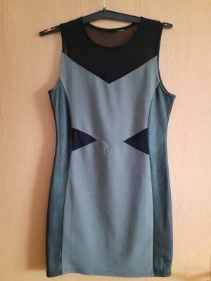 Only Leather Dress black-grey