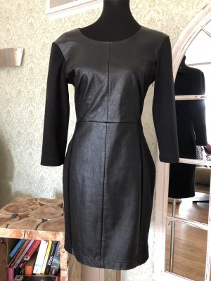 Set Leather Dress black