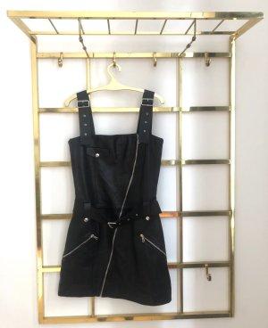 Zara Studio Skórzana sukienka czarny