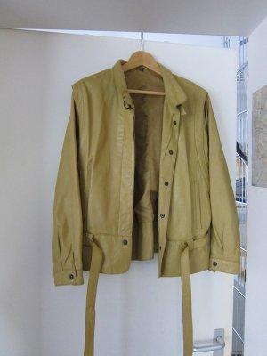 Leather Skirt dark yellow
