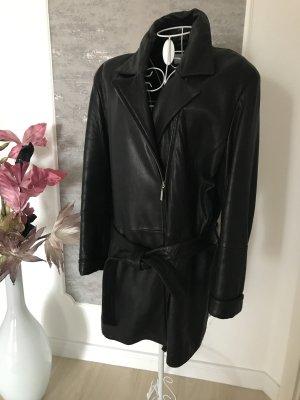 Victoria Leren jas zwart
