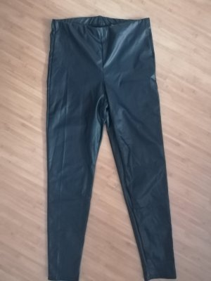 Boohoo Leather Trousers black