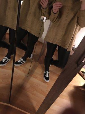 Tezenis Pantalon en cuir noir