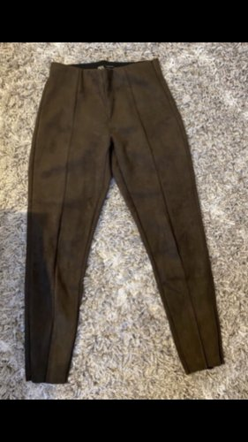 NA-KD Leather Trousers black