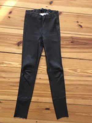 Arma Collection Pantalone in pelle marrone-grigio