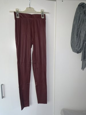 Bershka Leather Trousers carmine