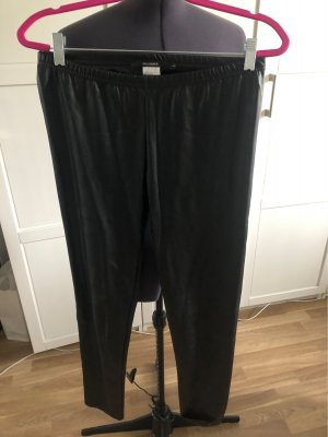 Hallhuber Faux Leather Trousers black