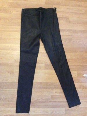 Karl Lagerfeld Leren broek zwart