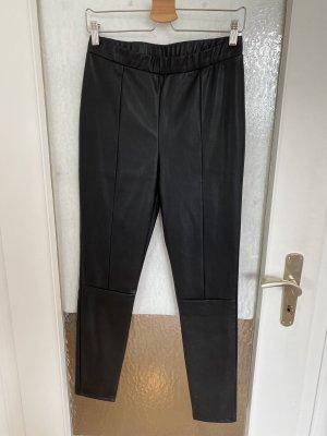 Noisy May Pantalón de cuero negro
