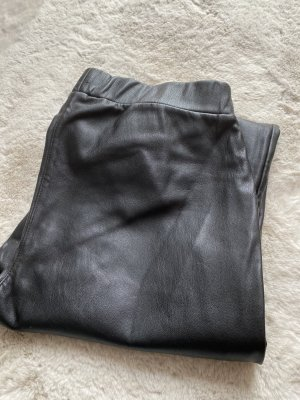 Rich & Royal Pantalón de cuero negro