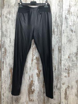 Asos Pantalone in pelle nero