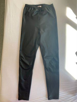 Subdued Pantalone in pelle nero