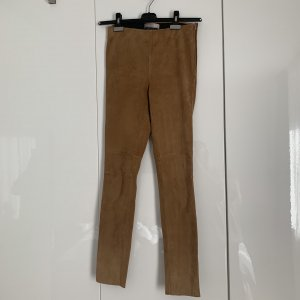 Hallhuber Donna Leather Trousers cognac-coloured-brown leather
