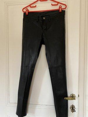Denim Studio Pantalón de cuero negro