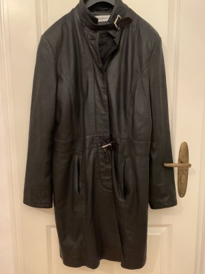 Gaddis Manteau en cuir noir