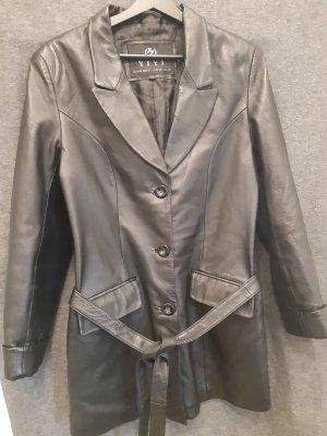 American Vintage Leren jack zwart