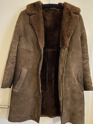 SIEGER Leather Coat light brown-brown leather