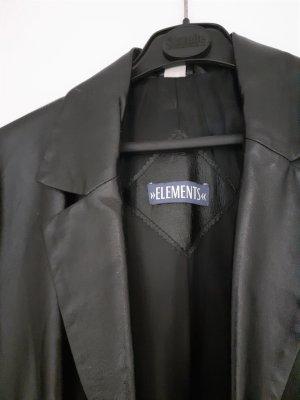 Elements Skórzany płaszcz czarny Skóra
