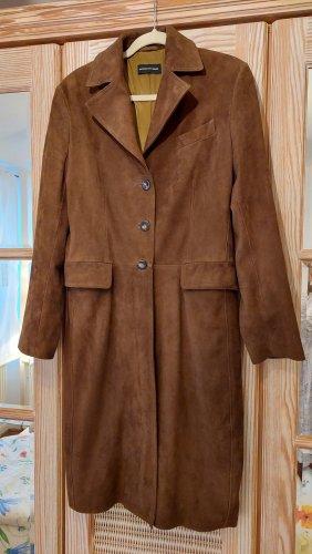 Massimo Dutti Manteau en cuir brun