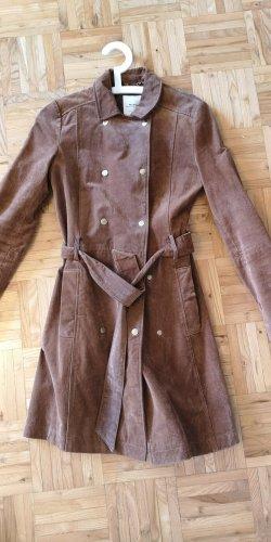 Mango Gabardina tipo vestido marrón