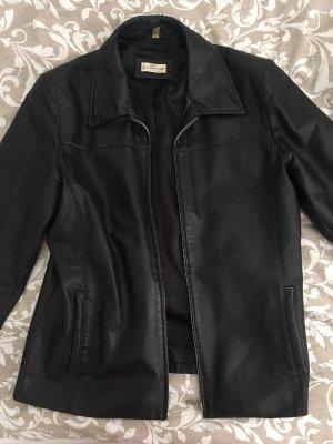 Best Connections Leather Coat black