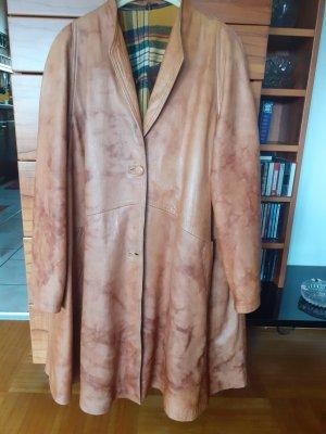 Skórzany płaszcz cognac