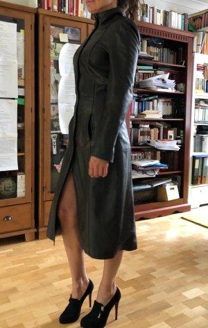 Christian Berg Leather Coat black